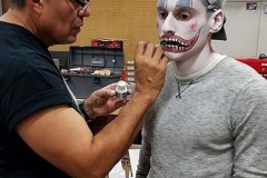 Halloween Town of CR Art doing Kayles makeup web