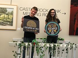 Volunteers at Castle Rock Library - Escape Room Event
